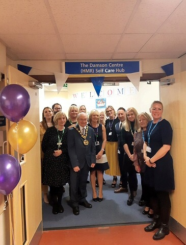 Mayor Billy Sheerin opened a new Self Care Hub - The Damson Centre - at Rochdale Infirmary on Friday 27 September