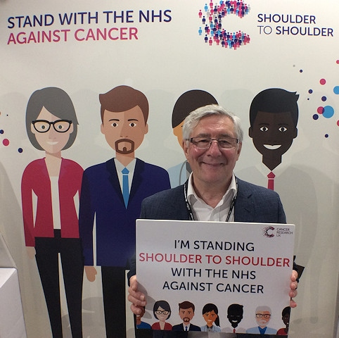 Tony Lloyd MP shows his support for Cancer Research