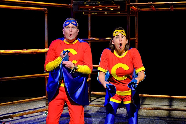 Captain Clever (Luke Walker) is good at code breaking and problem solving, whilst Captain Conker (Lois Mackie) is super-fast and not scared of anything - except, perhaps spelling