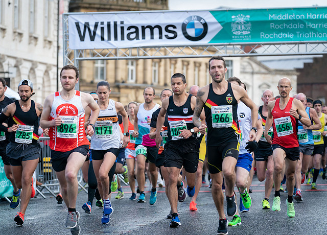 Williams BMW Rochdale 10K runners set off