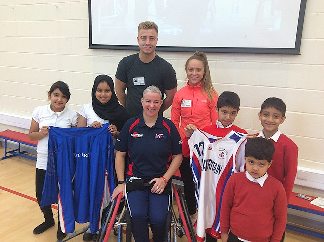 Anna Jackson, the former Paralympian, at Hamer Community Primary School