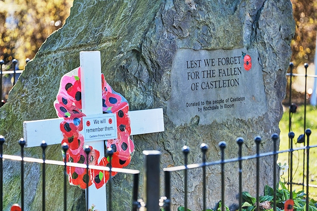 The memorial - Castleton Remembrance Sunday 2019