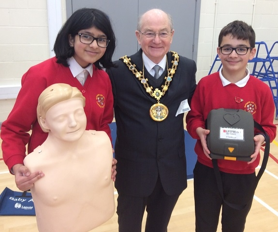 Mayor Billy Sheerin visited children at Hamer Community Primary School during their Care Week
