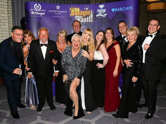 Denise Welch hosted the 19th GEM Appeal winter ball with a Magic Castle theme