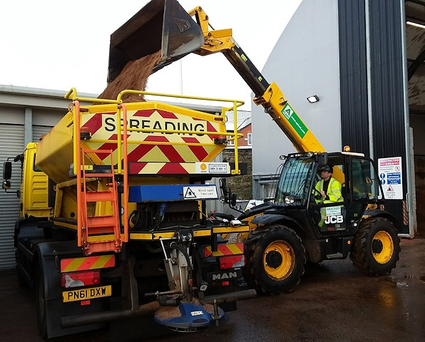 At the council depot there are over 4,500 tonnes of salt ready for spreading and treatments started last month