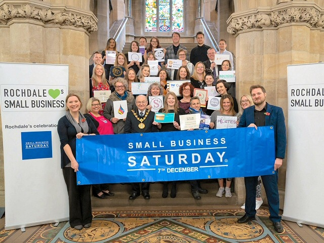 Mayor Billy Sheerin attended the Small Business Saturday Rochdale 30 Celebration
