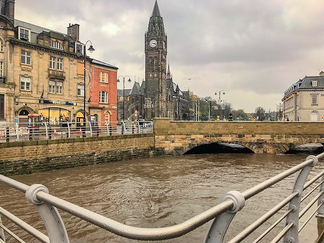 The River Roch, Rochdale town centre, 4.15pm Thursday 7 November 2019 - Greg Couzens