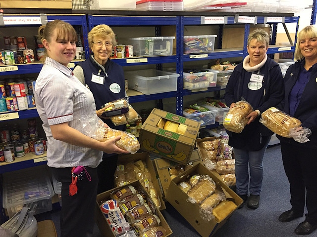 Donating bread to the Rochdale Foodbank on 7 November