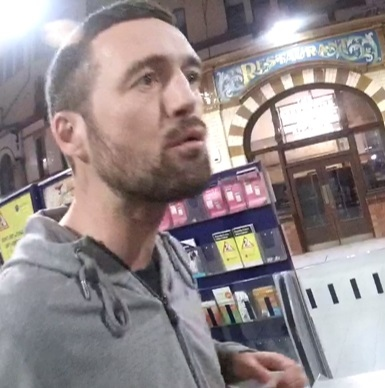 Do you recognise this man? British Transport Police Officers would like to identify him after two members of rail staff were racially abused in Manchester Victoria station