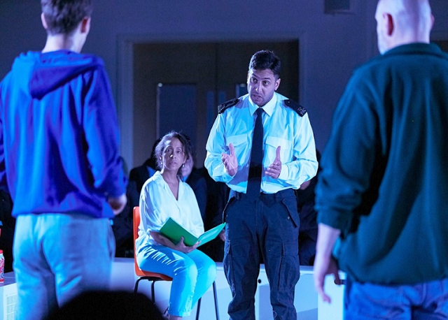 The National Theatre perform 'The Curious Incident of the Dog in the Night-time' at Kingsway Park High School