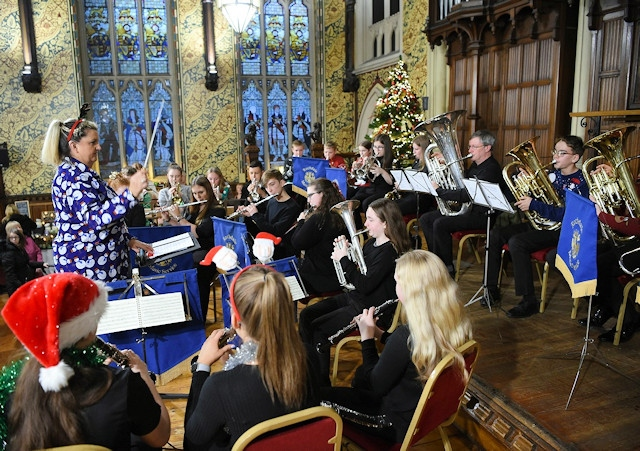 There's a Christmas Concert in the stunning surroundings of the town hall with Rochdale Music Service performing