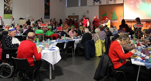 Siddal Moor hosts senior citizens' Christmas party