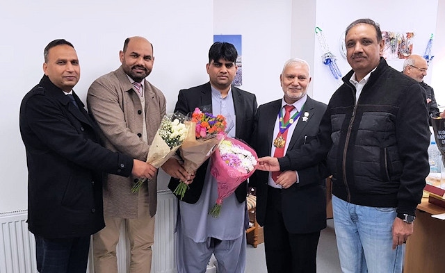 The grand opening of Umair Travel Services on Milkstone Road