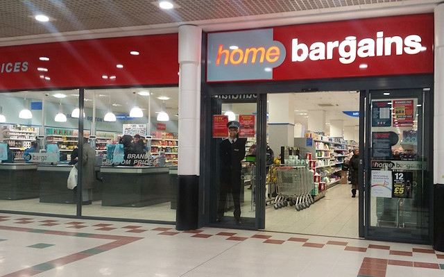 Home Bargains in the Rochdale Exchange Shopping Centre