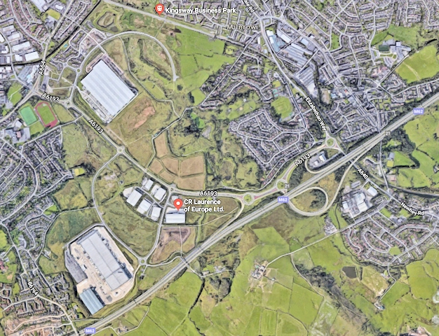 Kingsway Business Park and the M62