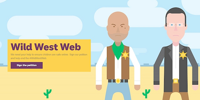 NSPCC's Wild West Web campaign - sign the petition now