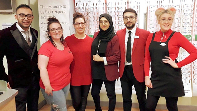Specsavers Rochdale fundraising for Comic Relief