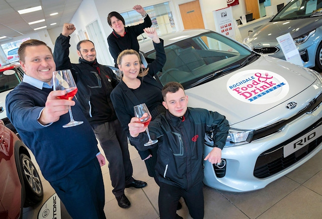The team at Premier Kia, Rochdale, who are sponsoring Rochdale Food & Drink Festival for the first time