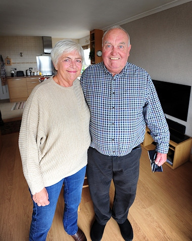 Margaret Cigna and Alan Healey, who live in Dunkirk Rise, which would be demolished under the RBH masterplan