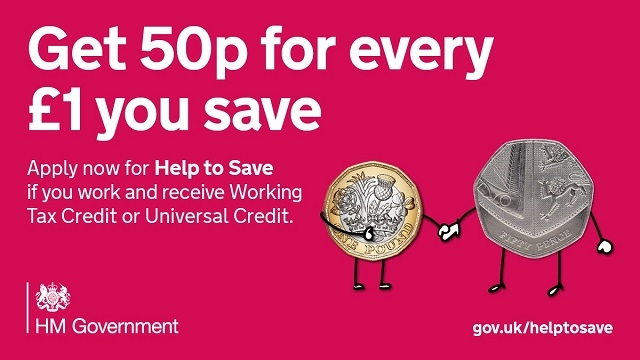 Government-backed saving scheme – Savers earn 50p for every £1 they save