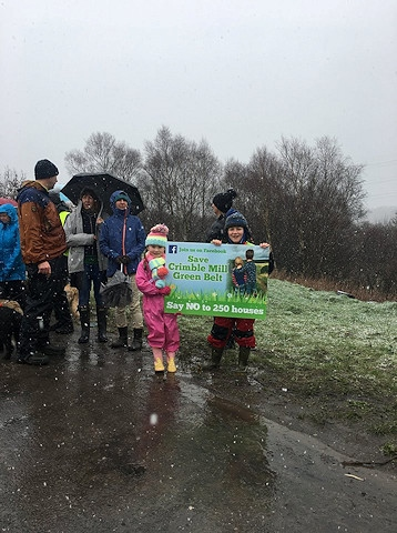 Save Crimble Mill Greenbelt Protest