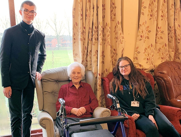 Students from Rochdale Sixth Form College supporting the elderly across the borough