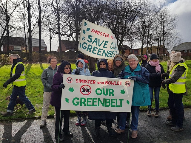 Save Simister and Bowlee greenbelt campaigners