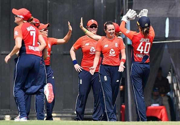 Kate Cross took two wickets and made 20 runs during the England final against Sri Lanka