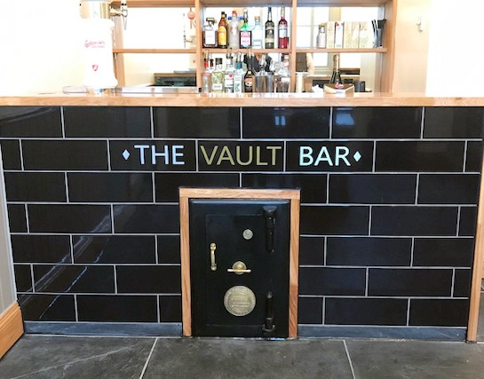 The Vault cocktail bar at The Medicine Tap