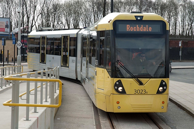 The Metrolink at Rochdale Railway Station