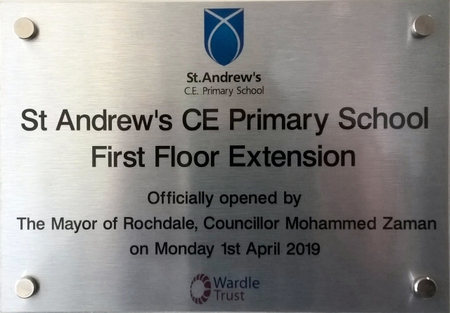 Mayor Mohammed Zaman officially opened the new extension at St Andrew's Primary School, Dearnley