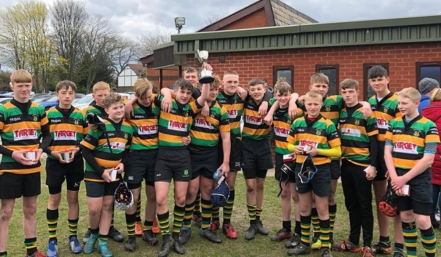 Littleborough RUFC U14s Vase Cup final winners 2018-19