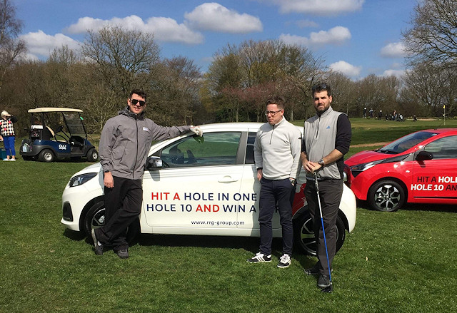 A car was offered as a prize for hitting a hole in one on hole 10