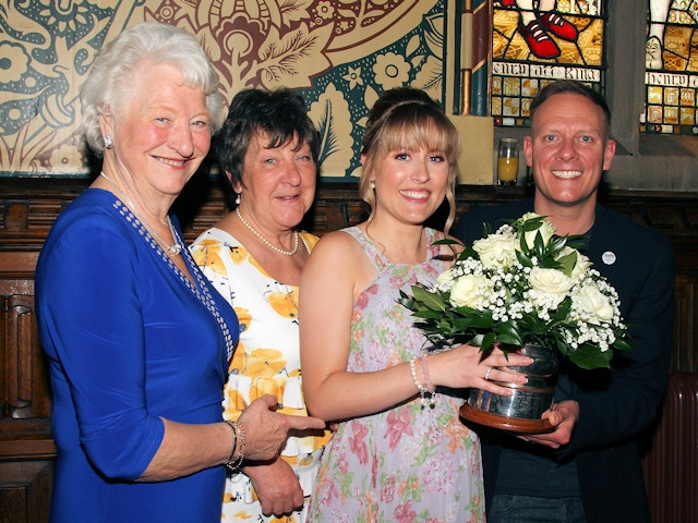 Dame Mary Peters, Marilyn Jones, Carole Kelly and Antony Cotton
