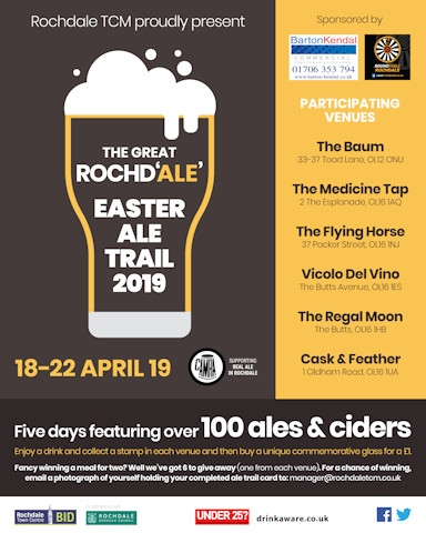 the Great Rochd'ale' Easter Ale Trail 2019