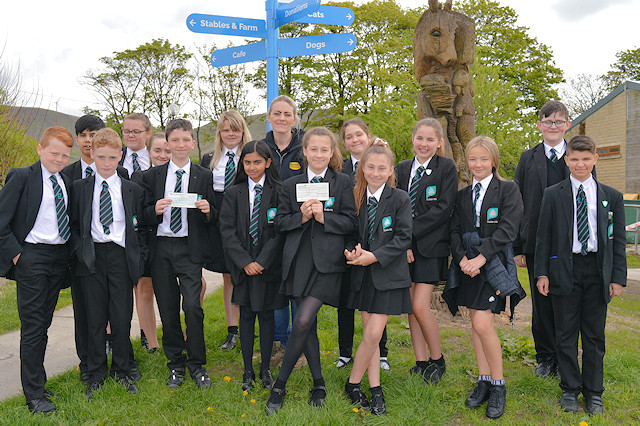 The 16 students who raised the most sponsorship money went on a short visit to Bleakholt