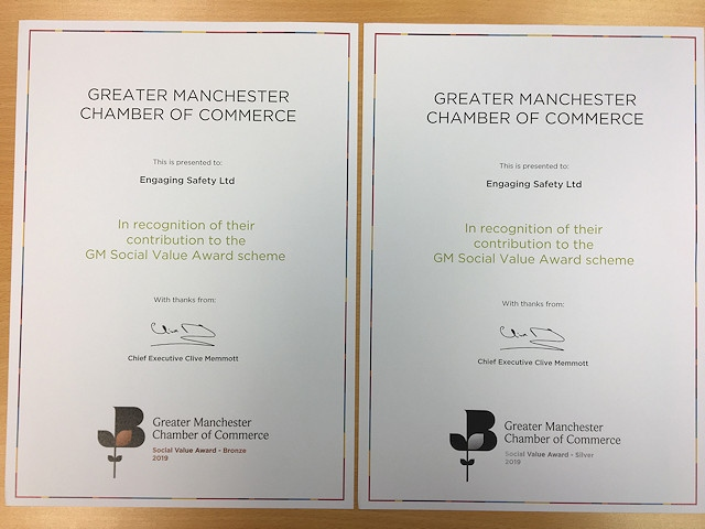 The certificates received by Engaging Safety Ltd
