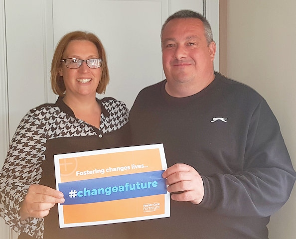Foster carers Lauren and Danny Sullivan