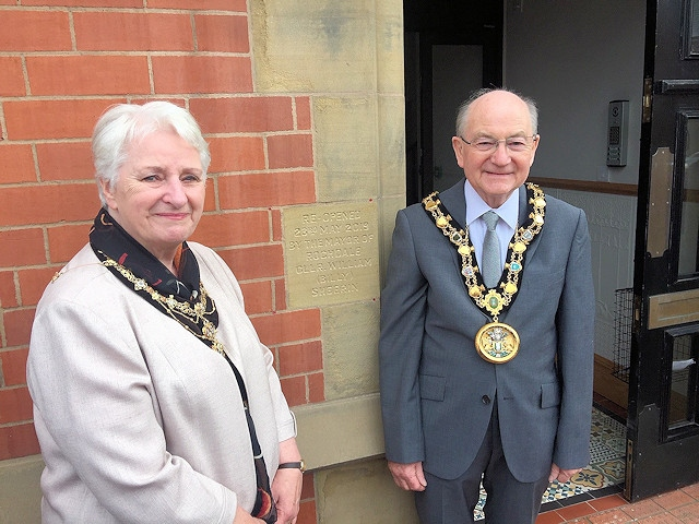 Mayor Billy Sheerin and Mayoress Lynn Sheerin opened the Carnegie Building in Castleton