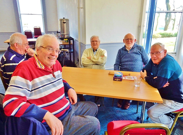 Blokes at Hare Hill House support group