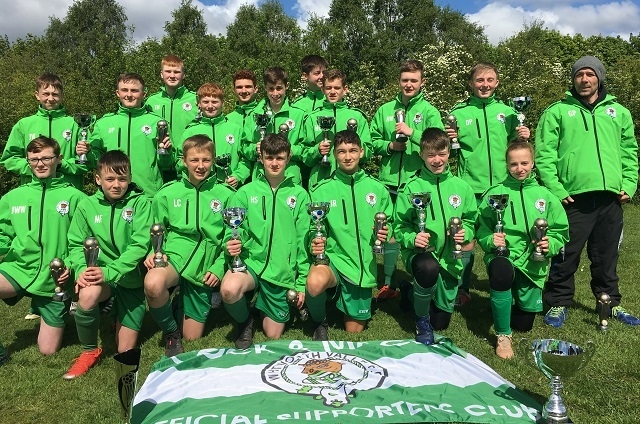 Whitworth Valley Under 15 Team - Double Champions 2018/19