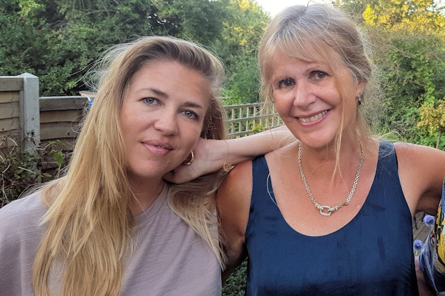 Debbie Lye OBE (right) and her daughter, Amanda McLoughlin OBE (left)