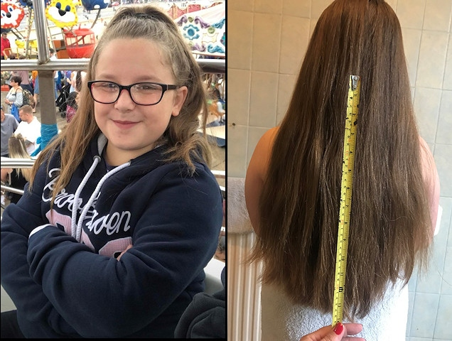 Grace Nock will be donating 12 inches of her hair to the Little Princess Trust