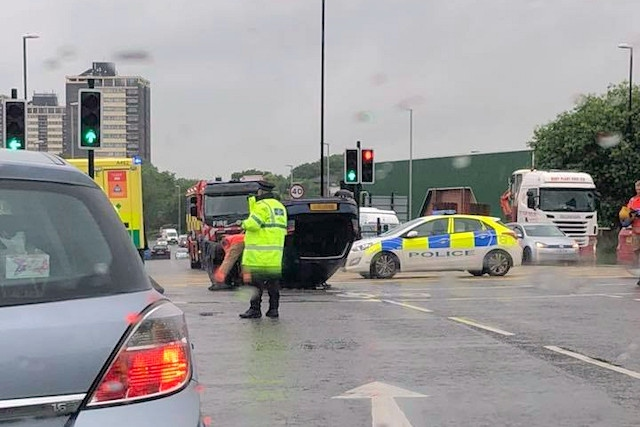 Collision at junction of Whitworth Road, St Mary's Gate and John Street