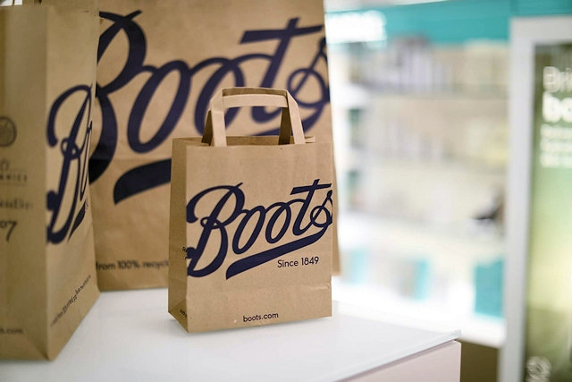 Boots replace plastic carrier bags with unbleached paper bags