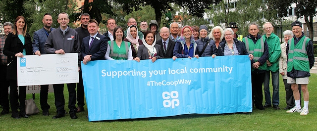 Rochdale in Bloom has been sponsored by the Co-op
