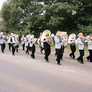 Littleborough Brass Band at Littleborough Rushbearing 2018