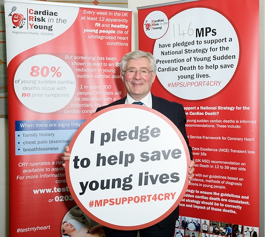 Tony Lloyd supporting Cardiac Risk in the Young (CRY)