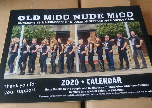 Members of Old Middleton, New Middleton have shed their clothes for a charity calendar