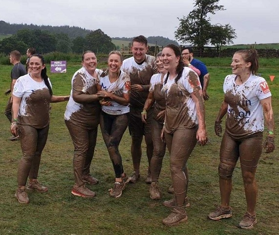 Staff from Makin Dixon Solicitors who took part in the Yorkshire Tough Mudder challenge